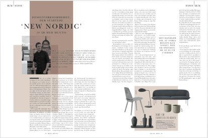 Article and portrait of Muuto founder Kristian Byrge for RUM, April 2015